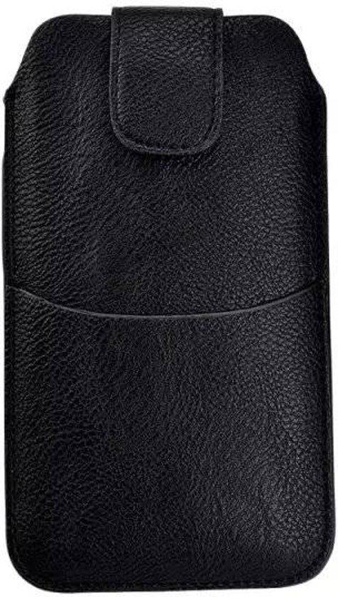 Sony Xperia X Compact Zwart insteekhoesje met riemlus en opbergvakje