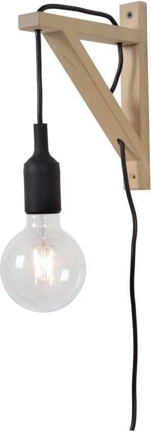 Lucide FIX WALL - Wandlamp - E27 - Zwart
