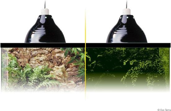 Glow light / klemplamp + glow reflector