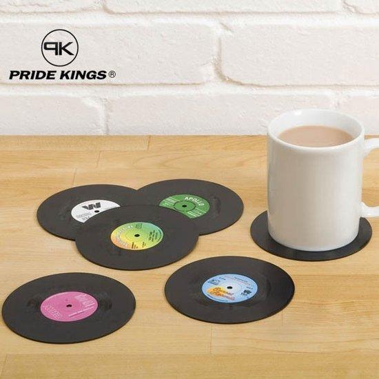 Retro Vinyl LP Onderzetters | vinyl coasters | 6 stuks | Pride Kings ®