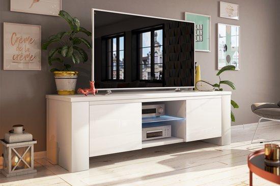 Top honderd tv meubel kast jackson 130 cm met led verlichting body