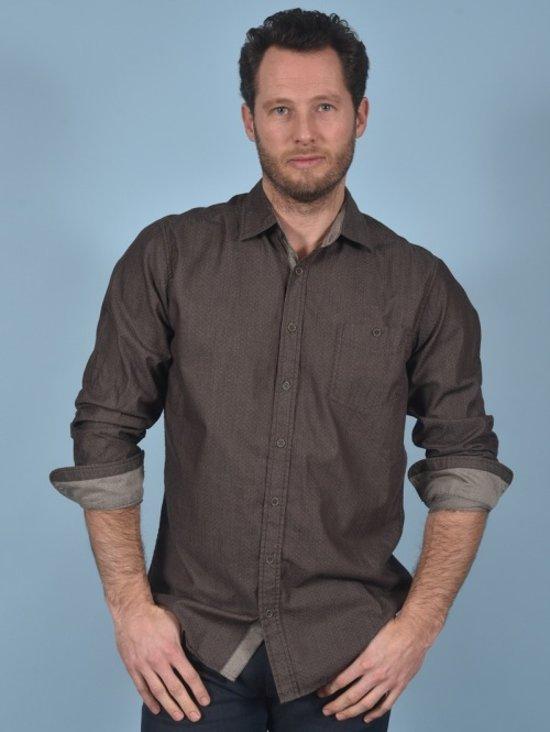Bruin Overhemd Heren.Bol Com Gcm Heren Overhemd Bruin Met Print Maat L