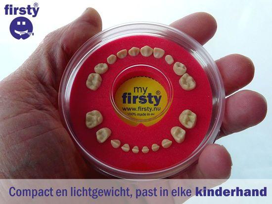Tandendoosje > Firsty Round < (Fluor Groen-Geel, jongen/meisje) -melktanden-tandenfee-tanden-opbergdoosje (meisje, jongen) - Gratis verzending elke DI en VR (besteld vóór 13.30)