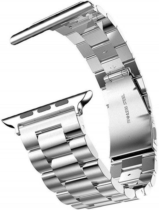 Metalen Armband Voor Apple Watch Series 4 44 MM Horloge Band Strap - iWatch Schakel Polsband RVS - Zilver Kleurig