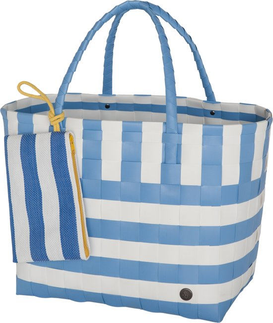 Handed By Breeze - Strandtas - licht blauw met wit