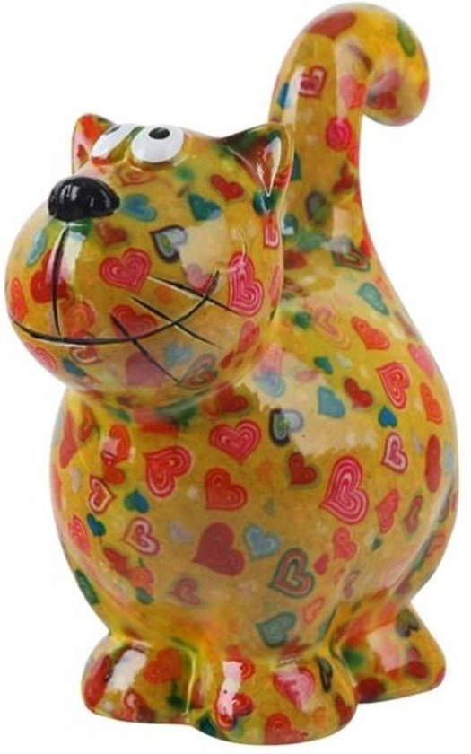 Pomme Pidou spaarpot kat Dorothy - Uitvoering - Groen met harten