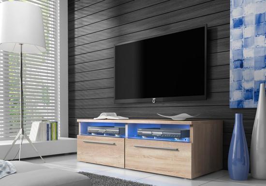 Bol tv meubel dressoir sieno met led verlichting licht eiken