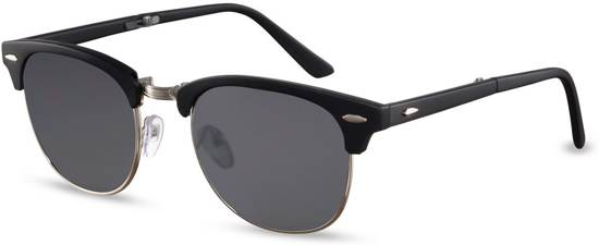 a89946fb4c6003 Cheapass Zonnebrillen - Clubmaster zonnebril - Goedkope zonnebril - Trendy  - Zwart