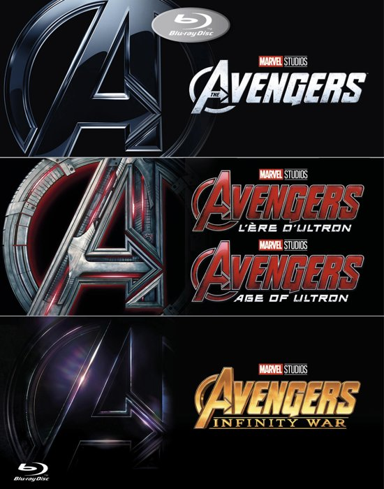 DVD cover van The Avengers 1-3 Boxset (Blu-ray)