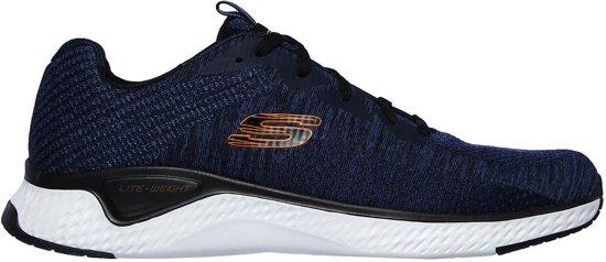 Skechers Solar Fuse Kryzik blauw sneakers heren (52758NVBK)