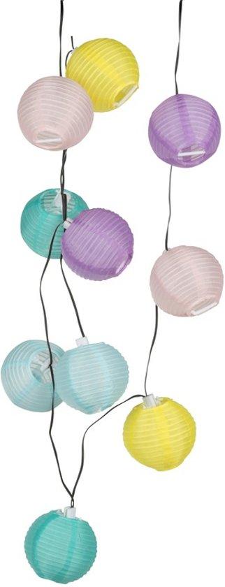 bol.com | Lampionnen feestverlichting solar lichtsnoer 240 cm