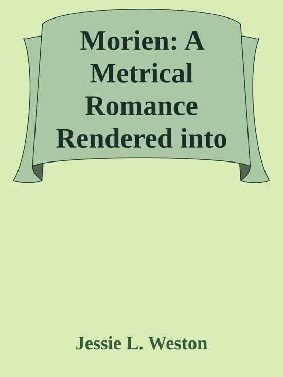 metrical romance You can read morien a metrical romance by weston jessie laidlay in our library for absolutely free read various fiction books with us.