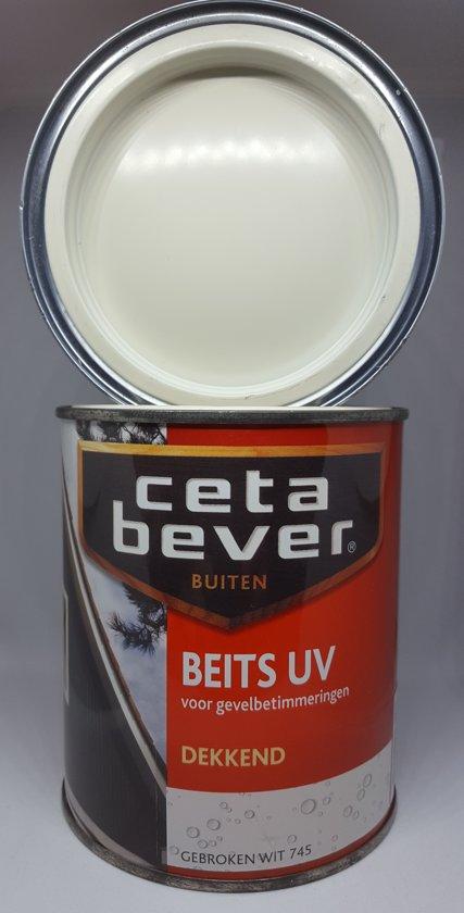 Top bol.com | Cetabever Dekkende Beits UV - 0,75 liter - Gebroken Wit 745 VD55