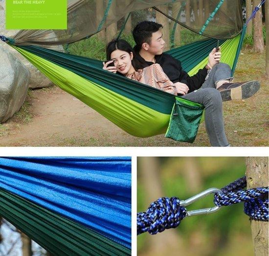 Hangmat met Muskietennet (Donkerblauw & Donkergroen)