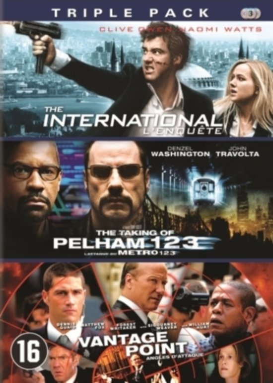 Cover van de film 'The International/The Taking Of Pelham 123/Vantage Point'