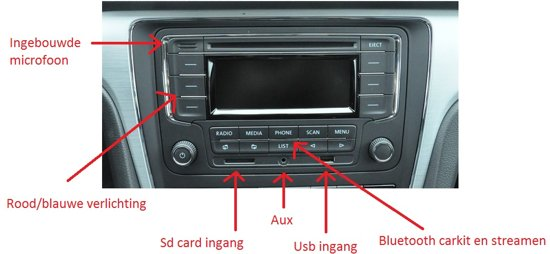 golf 5 radio cd speler bluetooth carkit usb aux. Black Bedroom Furniture Sets. Home Design Ideas