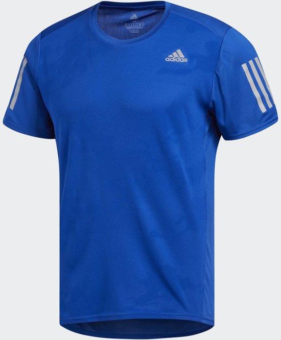 adidas Response Tee M Sportshirt Heren - Blauw