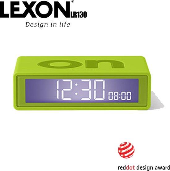 Lexon Flip+ Omkeerbare LCD wekker klok - Lime Groen - LR130