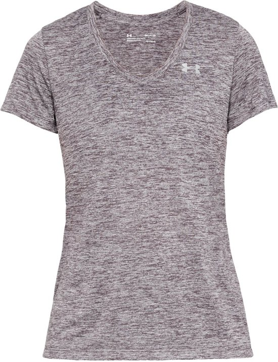 Under Armour Tech SSV-Twist Sportshirt Dames - Ash Taupe - Maat M
