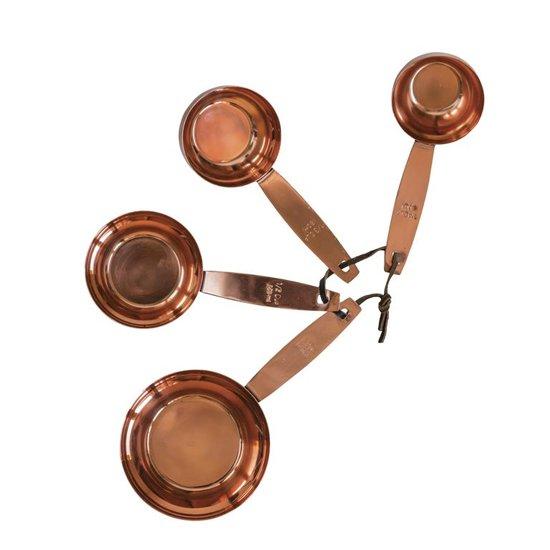 Bloomingville - Maatcups Koper Rvs 60/80/120/240 ml Set van 4