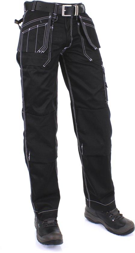 bol | kreb workwear edwin werkbroek heren - zwart - maat 54