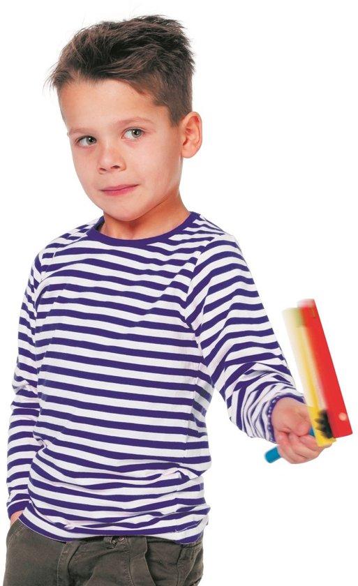 Dorustrui voor kind blauw/wit gestreept