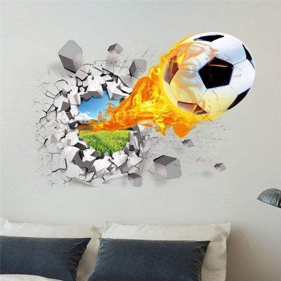 Stickers Op De Muur.Bol Com 3d Voetbal Decoratie Muur Sticker Tevens Geschikt Als
