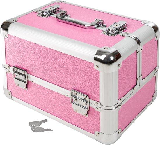 tectake beautycase afsluitbaar roze. Black Bedroom Furniture Sets. Home Design Ideas