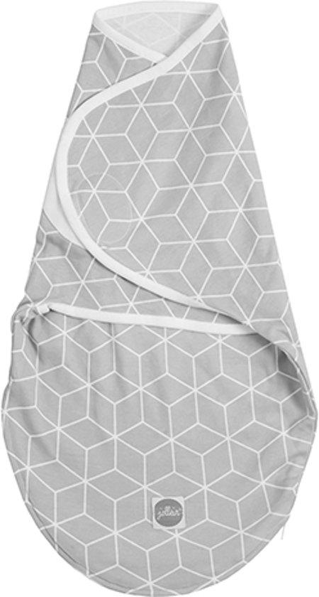 Jollein Graphic Slaapzak wrapper 0-3 maanden grijs