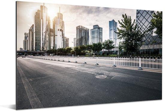 Prachtige rustige weg in Beijing Aluminium 60x40 cm - Foto print op Aluminium (metaal wanddecoratie)