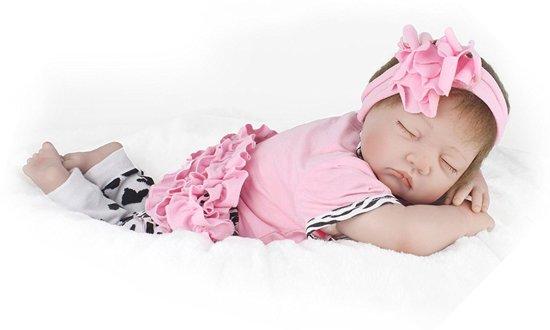 Reborn Baby Pop met haarband – Handgemaakt - 55cm