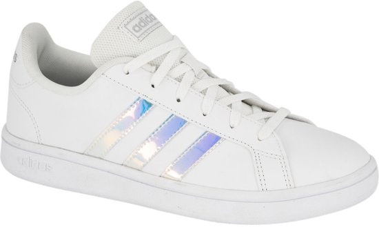 adidas Dames Witte Grand Court Base holografisch Maat 41 1
