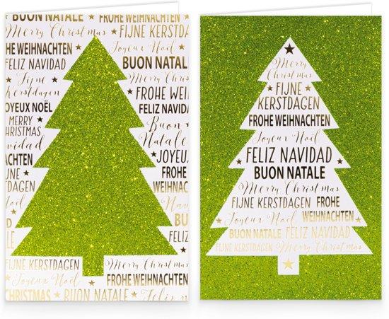 Wenskaarten Zakelijke Kerstkaarten.Hallmark Kerstkaarten Fijne Kerstdagen Wenskaarten In Box 12 St Groen Glitter