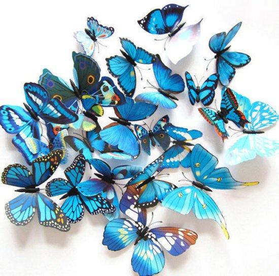 Vlinder Decoratie Babykamer.Bol Com 3d Vlinders Muur Sticker Muurdecoratie Kinderkamer