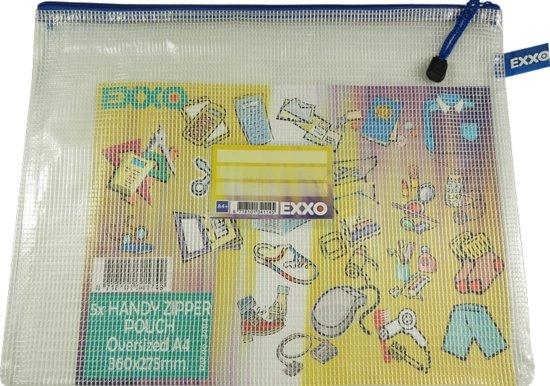 EXXO-HFP A4-XL Opbergtas Handy - Multi-Purpose - Rits Blauw - 5 stuks