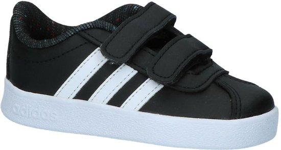 47d39cc73e0 adidas VL Court 2.0 CMF Sneakers Kids Sneakers - Maat 27 - Unisex - zwart/