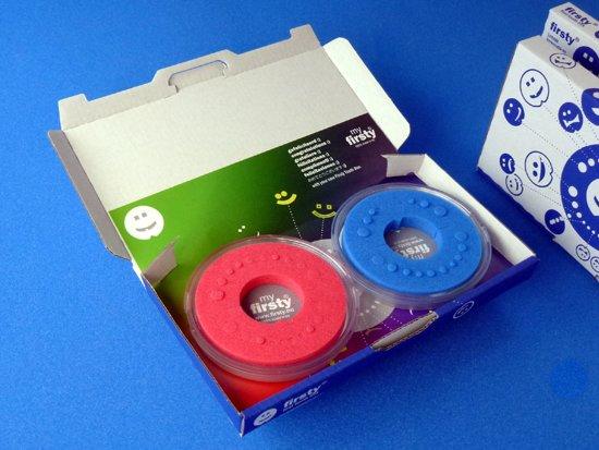 Voordelige set 2x Tandendoosje - fluorgeel-zwart/blauw - jongen/meisje - NL Tekst - inclusief koelkastmagneten - Gratis verzending elke DI en VR (besteld vóór 13.30)