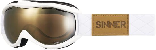 Sinner Toxic - Skibril - Volwassenen - Wit/Goud