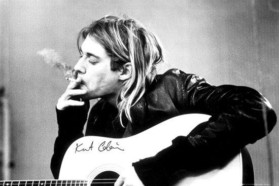 Kurt Cobain-Nirvana-Gitaar-Grunge-Poster-61x91.5cm.
