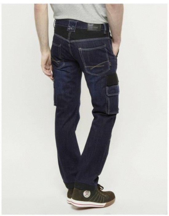 247 Jeans Spijkerbroek Grizzly D30 Donkerblauw - Werkkleding - L34-W34