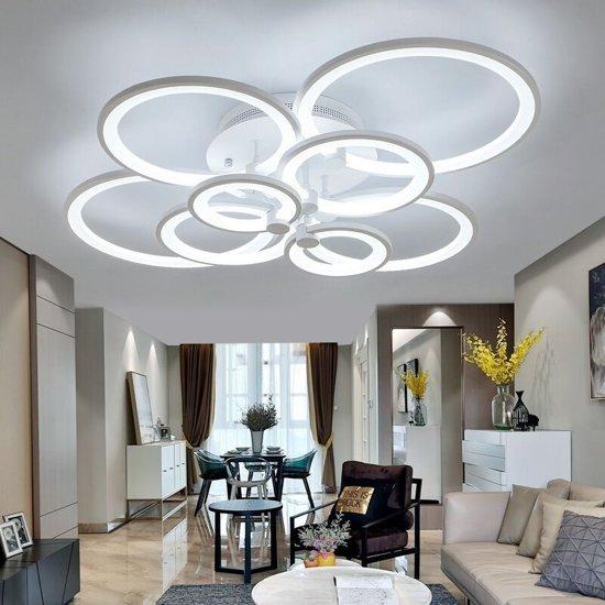 28W Creative ronde moderne kunst LED plafond lamp  4 koppen (wit licht)