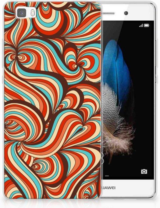 Huawei P8 Lite Uniek TPU Hoesje Retro in Zonhoven