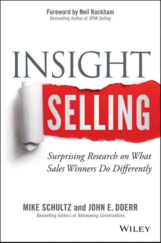 Boek cover Insight Selling van Mike Schultz (Hardcover)
