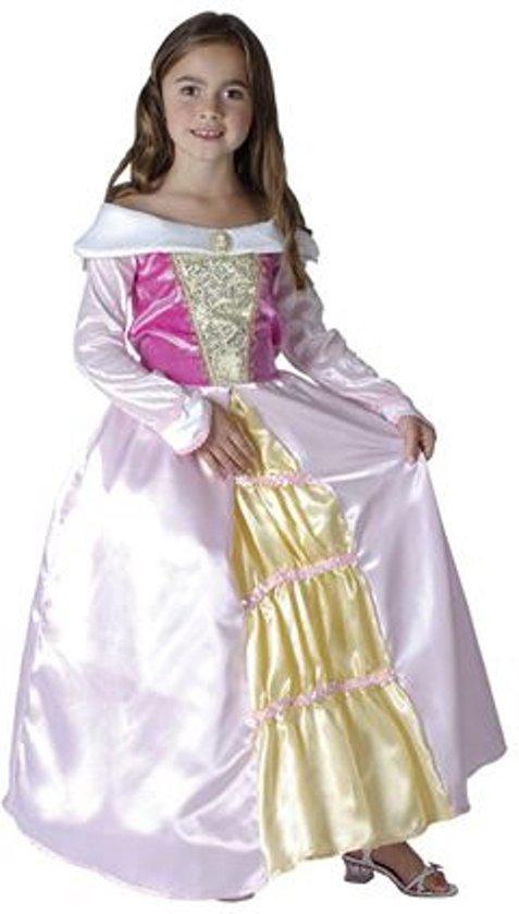 Prinsessen jurk voor meisjes roze 110-122 (5-7 jaar)