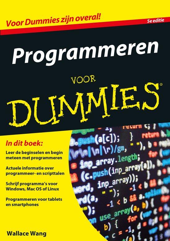 Boek cover Voor Dummies - Programmeren voor Dummies van Wallace Wang (Paperback)