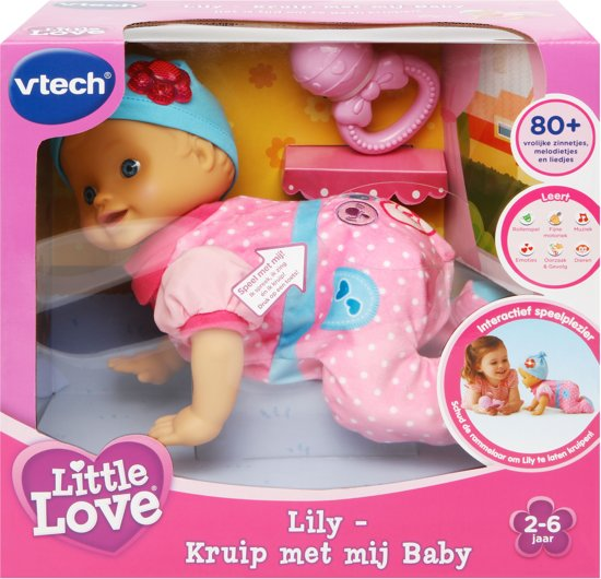 VTech Little Love Kruip Met Mij Baby - Pop