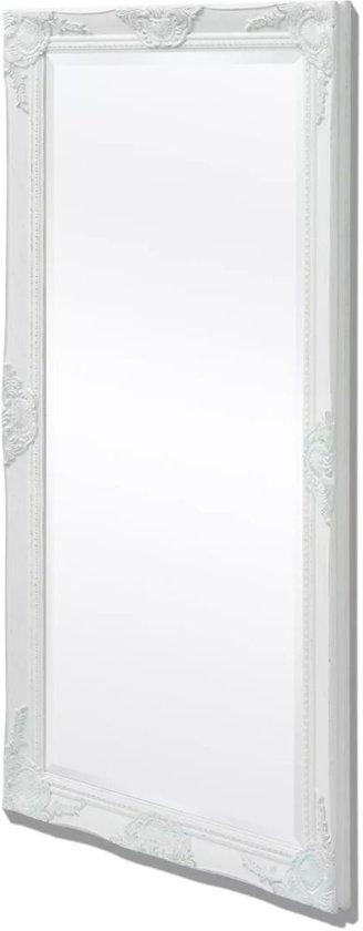vidaXL Wandspiegel Barok 120 x 60 cm wit