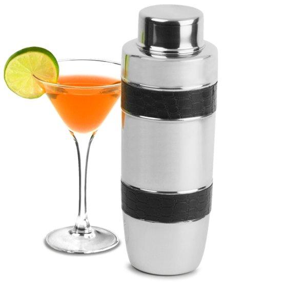Bar@ Cocktail shaker RVS met zwarte banden 35oz - OP = OP