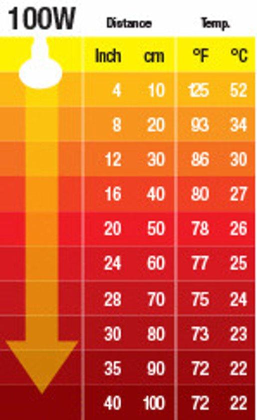 Keramische warmtelamp 100W