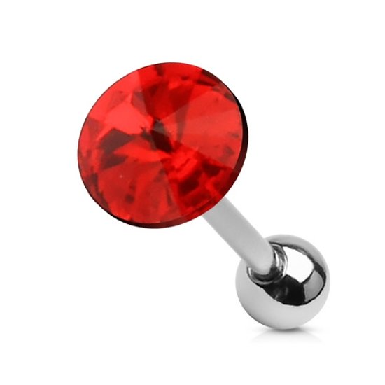 Helix piercing steen rood �LMPiercings